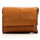 Muiska Berlin - Classic Leather Messenger Bag - Front View 2, Saddle