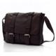 Muiska Dublin - Leather Laptop Messenger Bag - Front View, Brown