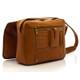 Muiska Tokyo - Leather Computer Messenger Bag - Saddle