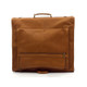 Muiska Havana - Leather Carry All Garment Bag - Back View, Saddle