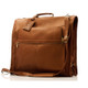 Muiska Havana - Leather Carry All Garment Bag - Front View, Saddle