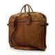 Muiska Rome - Leather Lightweight Garment Bag - Front View 2, Saddle