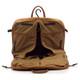 Muiska Rome - Leather Lightweight Garment Bag - Front Open View, Saddle