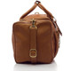 Muiska New York - 22in Leather Duffel Bag - Side View, Saddle