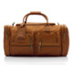 Muiska New York - 22in Leather Duffel Bag - Front View 2, Saddle