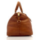 Muiska Madrid - 27in Leather Duffel Bag - Side View, Saddle
