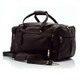 Muiska Hugo - 20in Leather Carry On Duffel Bag - Front View, Brown