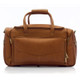 Muiska Hugo - 20in Leather Carry On Duffel Bag - Front View 2, Saddle