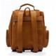 Muiska Refael - Leather Laptop Backpack - Back View, Saddle