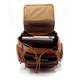 Muiska Refael - Leather Laptop Backpack - Upper Open View, Saddle