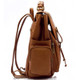 Muiska Refael - Leather Laptop Backpack - Side View, Saddle