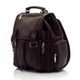 Muiska Refael - Leather Laptop Backpack - Front View, Brown
