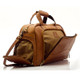 Muiska Luis - Leather Carry On Weekender Duffle - Side Open View, Saddle