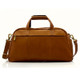 Muiska Luis - Leather Carry On Weekender Duffle - Back View, Saddle