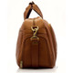 Muiska Luis - Leather Carry On Weekender Duffle - Side View, Saddle