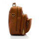 Muiska Carlos - Large Leather Mans Bag - Side View, Saddle