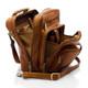 Muiska Carlos - Large Leather Mans Bag - Side Open View, Saddle