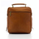 Muiska Carlos - Large Leather Mans Bag - Back View, Saddle