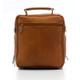 Muiska Carlos - Large Leather Mans Bag - Back View, Saddle