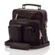 Muiska Carlos - Large Leather Mans Bag - Front View, Brown