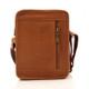 Muiska Daniel - Leather Mans Bag - Back View, Saddle