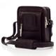 Muiska Daniel - Leather Mans Bag - Front View, Brown