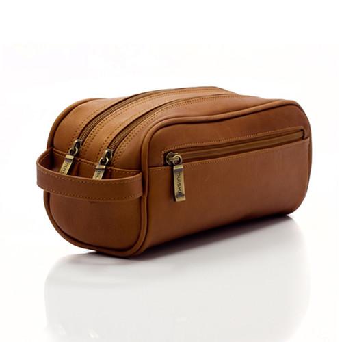 Muiska Tomas - Classic Leather Travel Kit - Front View, Saddle