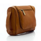 Muiska Mateo - Leather Travel Dop Kit - Front View, Saddle