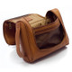 Muiska Mateo - Leather Travel Dop Kit - Side Open View, Saddle