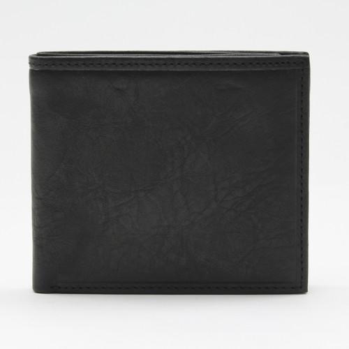 Napoli Bi Fold Wallet with Zipper Compartment Black
