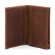 Musika Carlo - Colombian Leather Business and Credit Card Case Wallet - Open Front View, Saddle