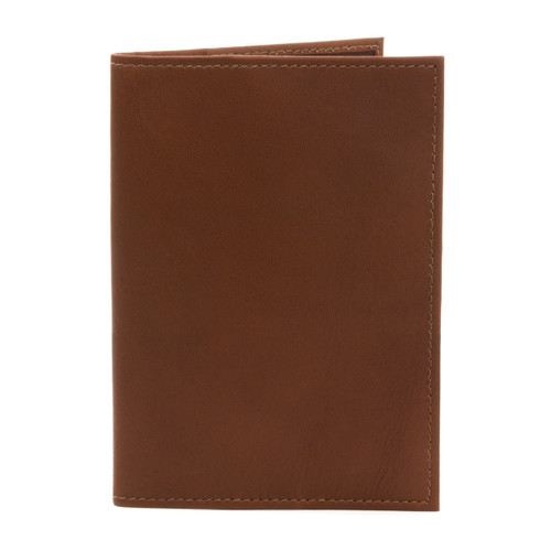 Musika Luca - Colombian Leather Passport Holder - Front View, Saddle