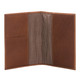 Musika Luca - Colombian Leather Passport Holder - Open Front View, Saddle