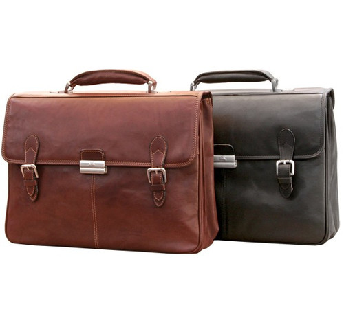 Classic European Double Compartment Briefcase - Group Image