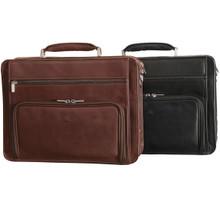 Tony Perotti Italy – Ultimo Laptop Double-Pocket Zip Around Briefcase