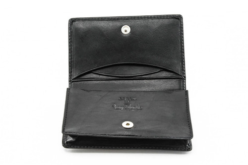 Prima Business and Credit Card Case Wallet | Black | PG403001 | Open
