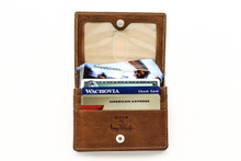 Prima Business and Credit Card Case Wallet with I.D. PG403301 | Cognac