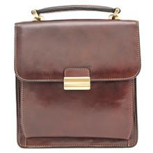 Capri Vertical Flap-Over Carry All Bag PI212005    Brown