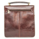 Capri Vertical Flap-Over Carry All Bag PI212005 Brown | Back View