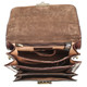 Capri Vertical Flap-Over Carry All Bag PI212005 Brown Open