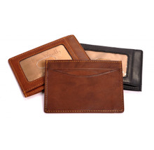 Tony Perotti Mens Italian Cow Leather Slim Front Pocket Weekend Wallet with ID Window