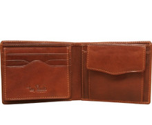 Tony Perotti Mens Italian Bull Leather Bifold Wallet with Removable ID Card Case and Coin Pocket