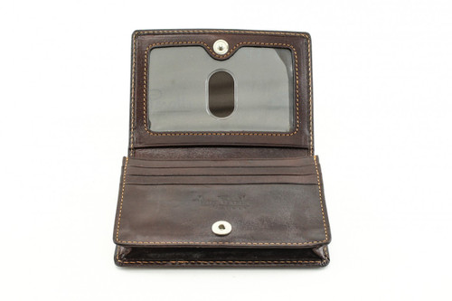 Ultimo Business and Credit Card Wallet with I.D. PI403301 Open Brown