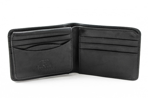 Prima Bi-Fold with ID Flap PG418201 | Color Black | Open