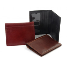 Tony Perotti Mens Italian Bull Leather Front Pocket Weekender Credit Card Wallet with ID WIndow