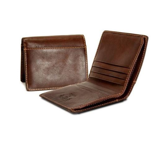 Prima Americano Front Pocket Credit Card Wallet PG413002 | Color Brown | Back And Side Open