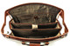 Tuscano Partners Briefcase PI018102 | Color Cognac | Open