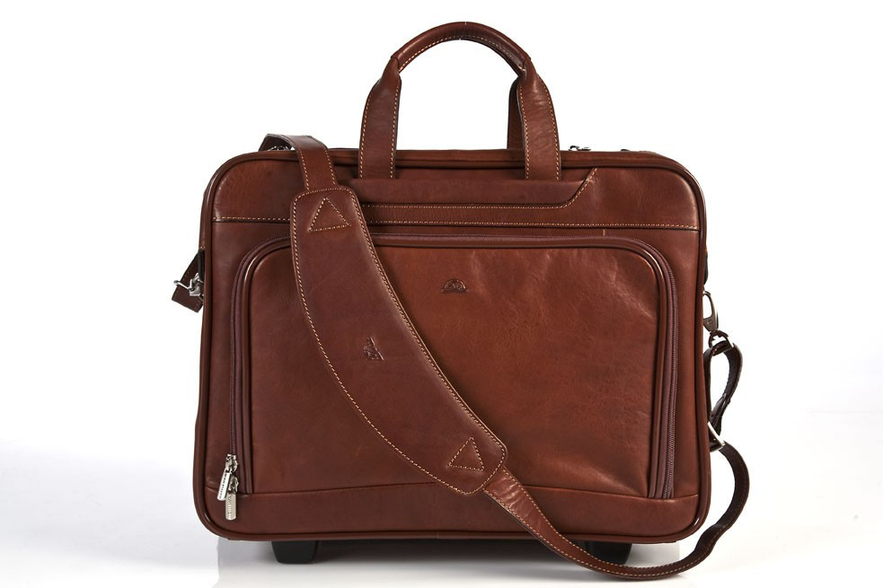36503ecf6d43 Tony Perotti Unisex Italian Cow Leather Torino Carry-on Rolling ...