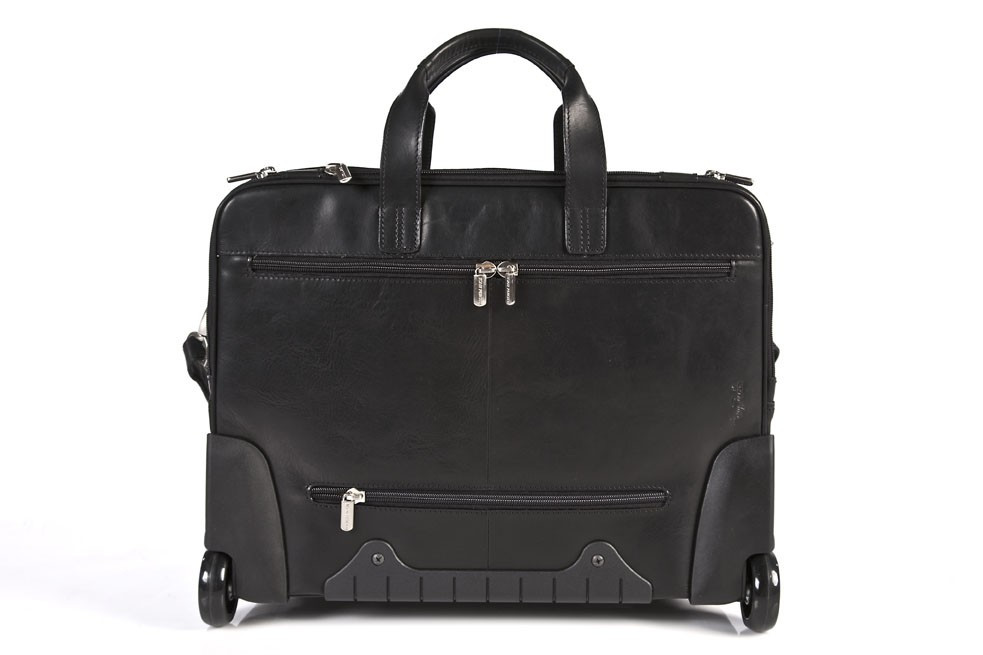 af5d76316ddb Tony Perotti Unisex Italian Cow Leather Torino Carry-on Rolling Wheeled  Laptop Leather Briefcase