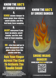 ABC's of Smoke Danger Rub-For-Scent Child Safety ID Cards - comes in packs of 5
